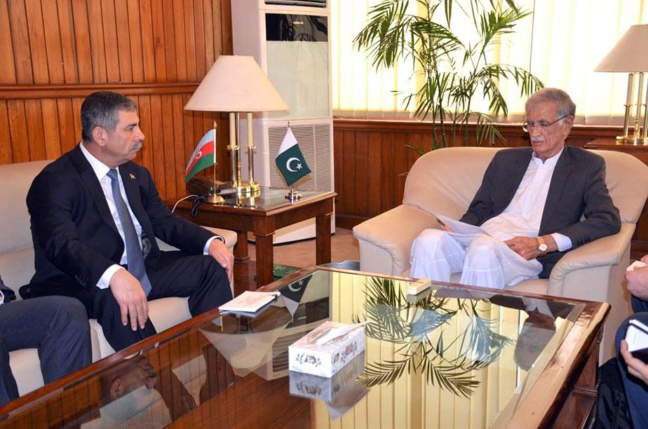 Zakir Həsənov pakistanlı həmkarı ilə görüşüb