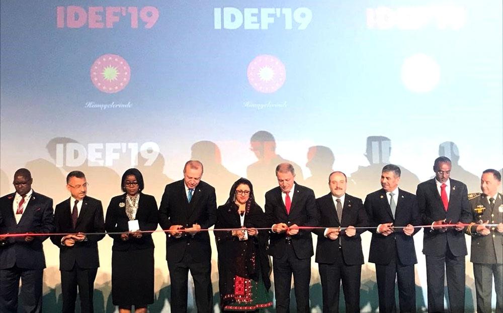 """Müdafiə naziri """"İDEF-2019"""" sərgisinin açılış mərasimində iştirak edib"""