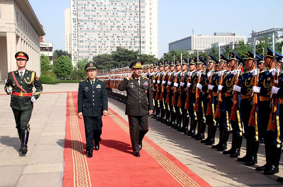 Azərbaycan və Çin müdafiə nazirlərinin görüşü keçirilib