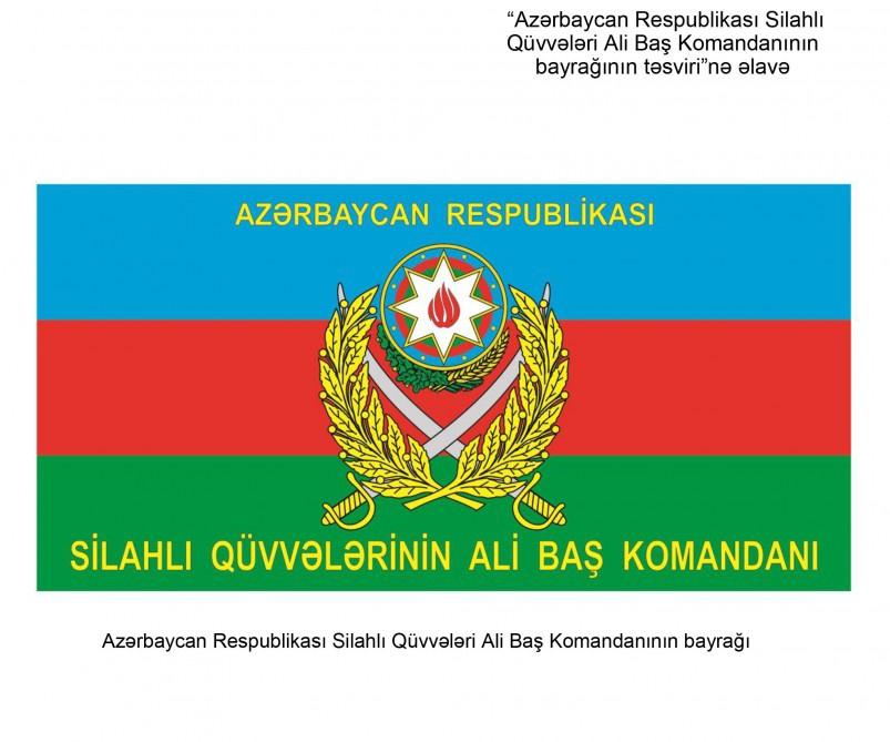 Azərbaycan Respublikası Silahlı Qüvvələri Ali Baş Komandanının bayrağının TƏSVİRİ