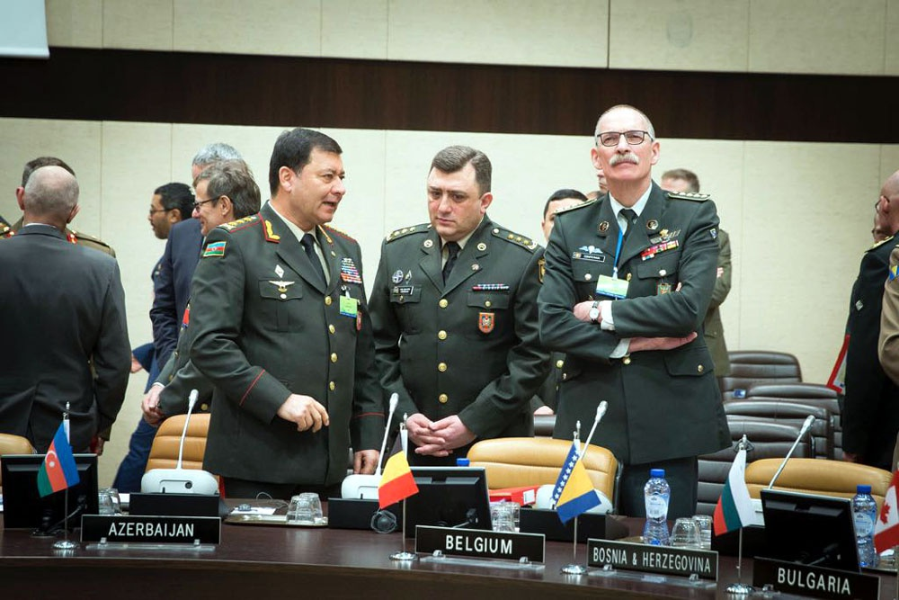 Silahlı Qüvvələrin Baş Qərargah rəisi NATO-nun iclasında iştirak edib