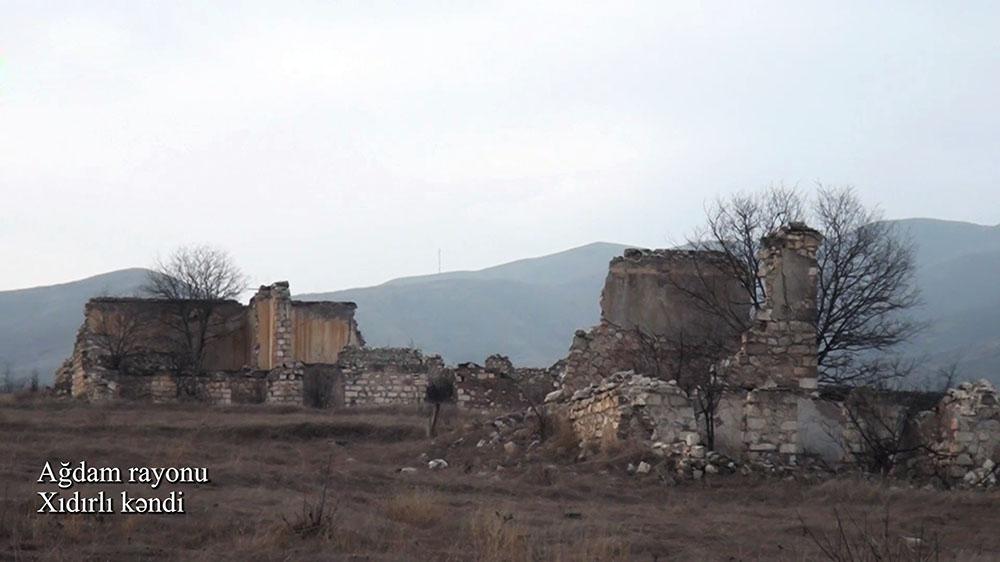 Ağdam rayonunun Xıdırlı kəndindən videogörüntülər